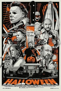 Tyler Stout Halloween Screen Print Michael Myer's Horror Movie Limited Edition