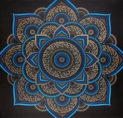 Blue Lotus by Cryptik, Contemporary Street Art Print