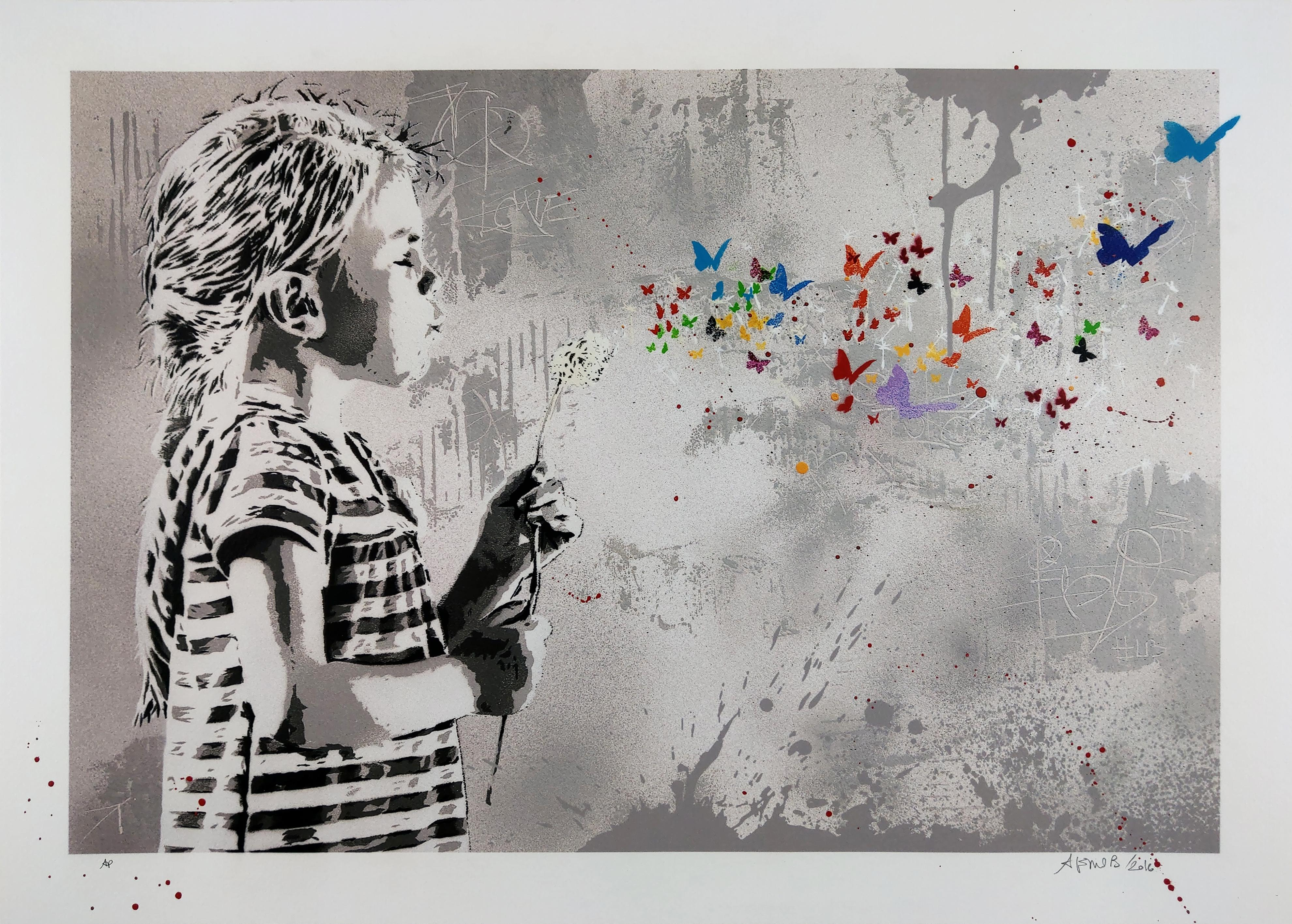 Blow by Alessio-B, Contemporary Street Art Print