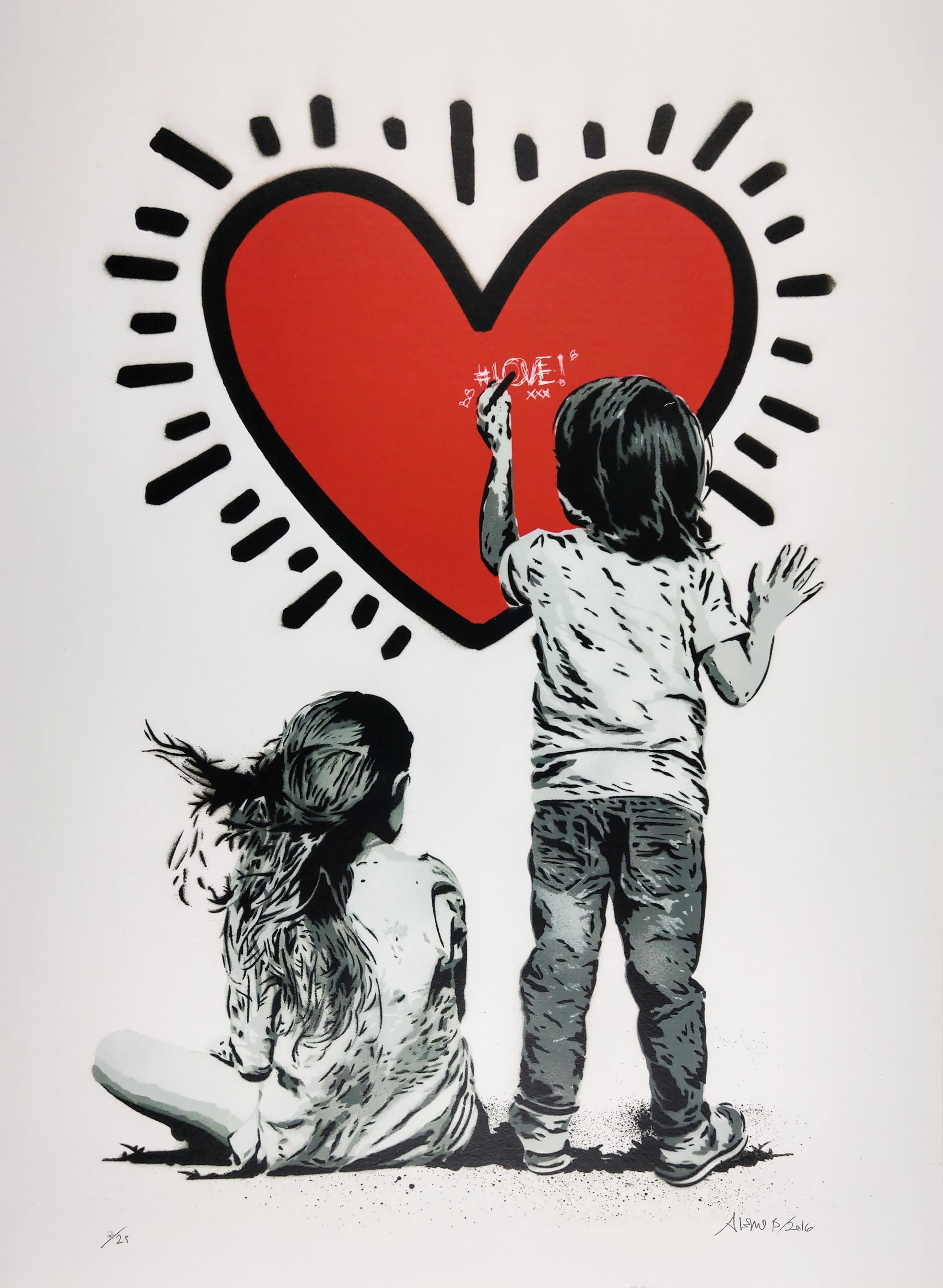 Heart, by Alessio-B, Contemporary Street Art Print