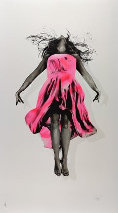 Fix the Sky, Pink by Snik.  Contemporary Street Art Print