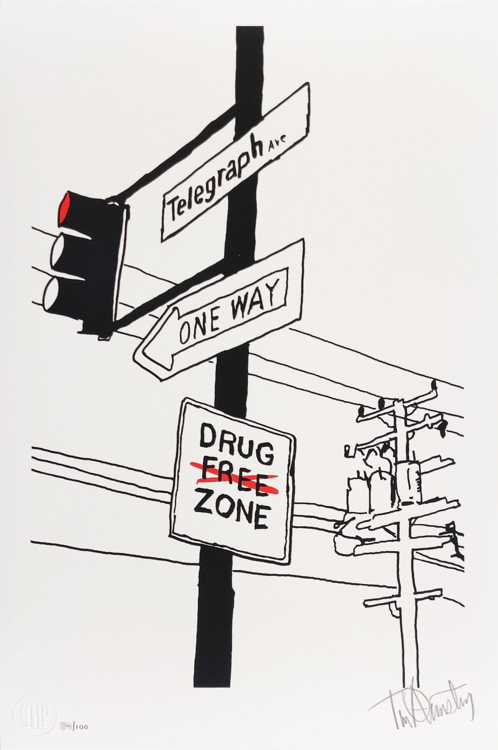 Durant & Telegraph, Tim Armstrong (Rancid) Punk Street Art Print