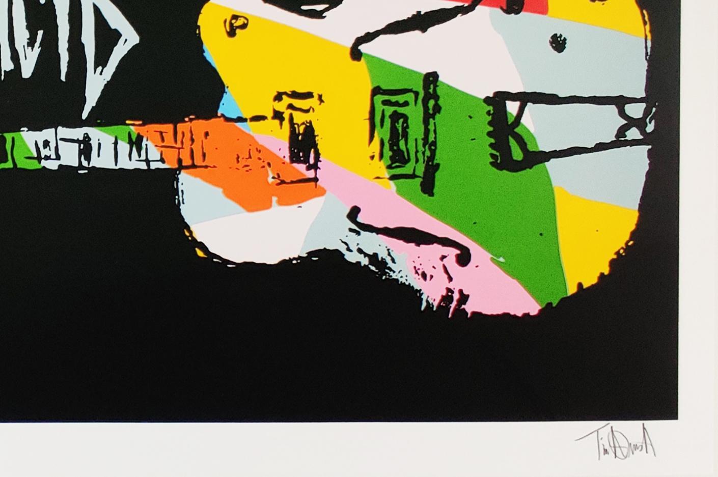 Nine Color Guitar, Tim Armstrong (Rancid) Punk Street Art Print
