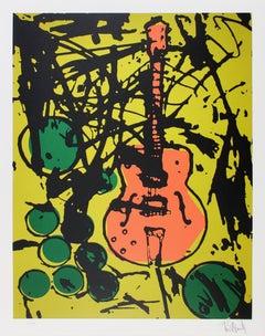 My Country Club Guitar, Tim Armstrong (Rancid) Punk Street Art Print
