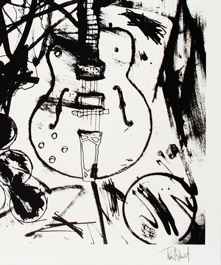 My Country Club Guitar B&W, Tim Armstrong (Rancid) Punk Street Art Print For Sale 2