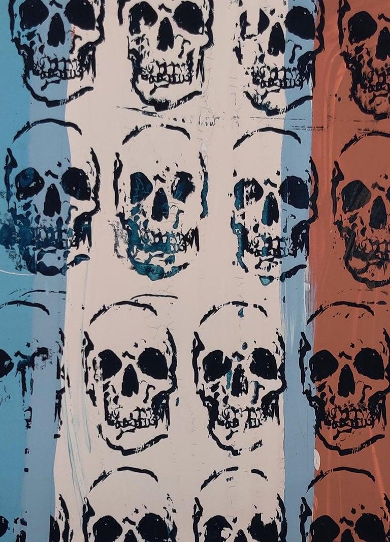 Sixteen Skulls, Tim Armstrong (Rancid) Punk Street Art Print For Sale 1