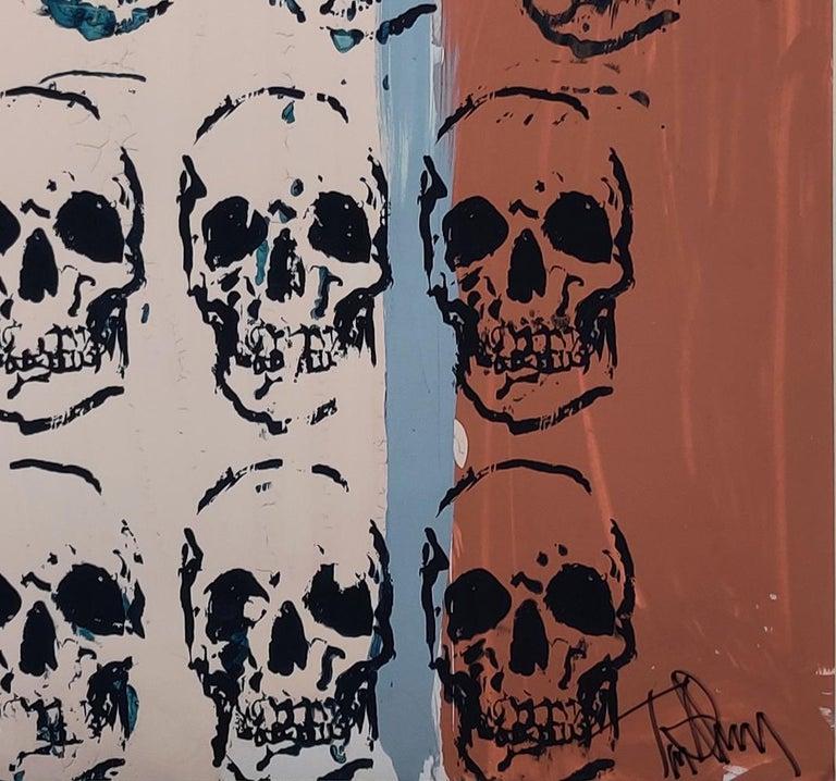Sixteen Skulls, Tim Armstrong (Rancid) Punk Street Art Print For Sale 2