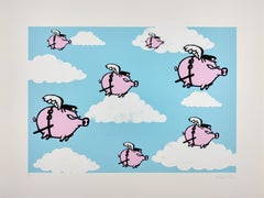 Pigs Might Fly, Mau Mau Contemporary Street Art Print