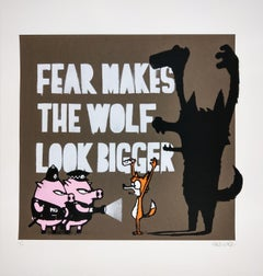 Fear Makes the Wolf Look Bigger, Mau Mau Contemporary Street Art Print