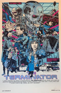The Terminator By Artist Tyler Stout Arnold Schwarzenegger James Cameron Print
