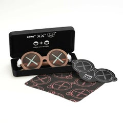 KAWS Son's and Daughter's Eye Glasses XX Pink Edition Street Art Kids Fashion