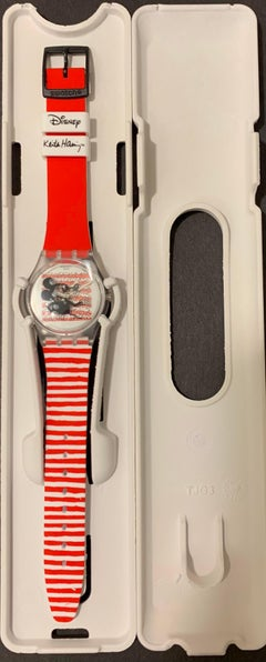 Swatch & Keith Haring Disney Mickey Mouse Limited Edition Watch Mariniere Red