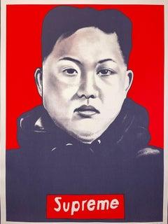 "The ""SUPREME LEADER"" LUSH SUX 2018 Screen Print Street Art Politics Contemporary"