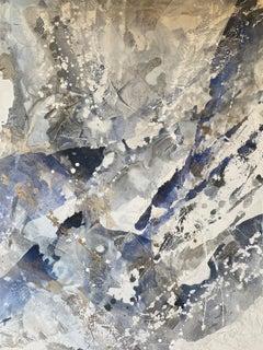 Baby Leo Blue II, 2020, Mixed Media on Canvas, Signed