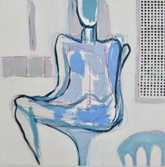 Sitting Pretty, Acrylic on Canvas, Signed