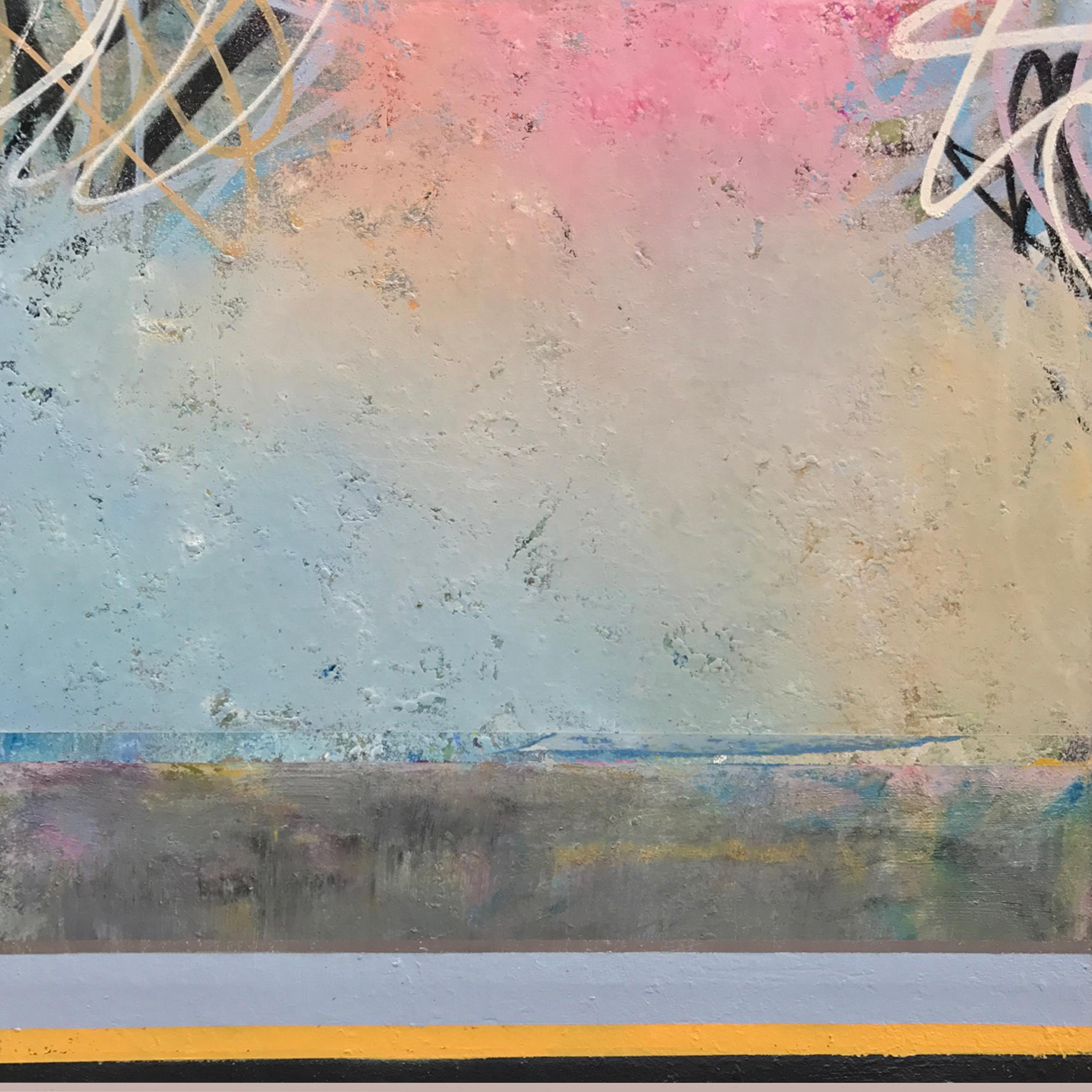 Indecision, 2017, Acrylic, Oil, Spray Paint on Canvas, Signed on Verso