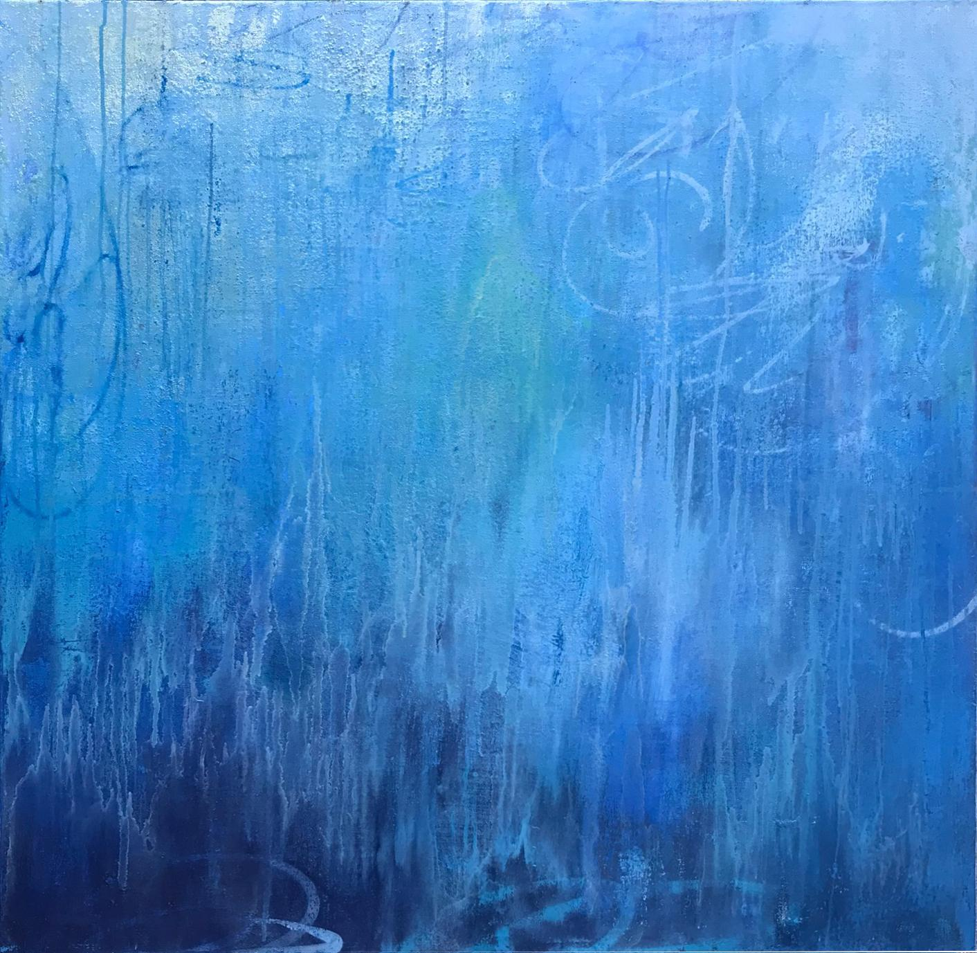 Inner Sanctum, 2018, Acrylic, Oil, Spray Paint on Canvas, Signed on Verso