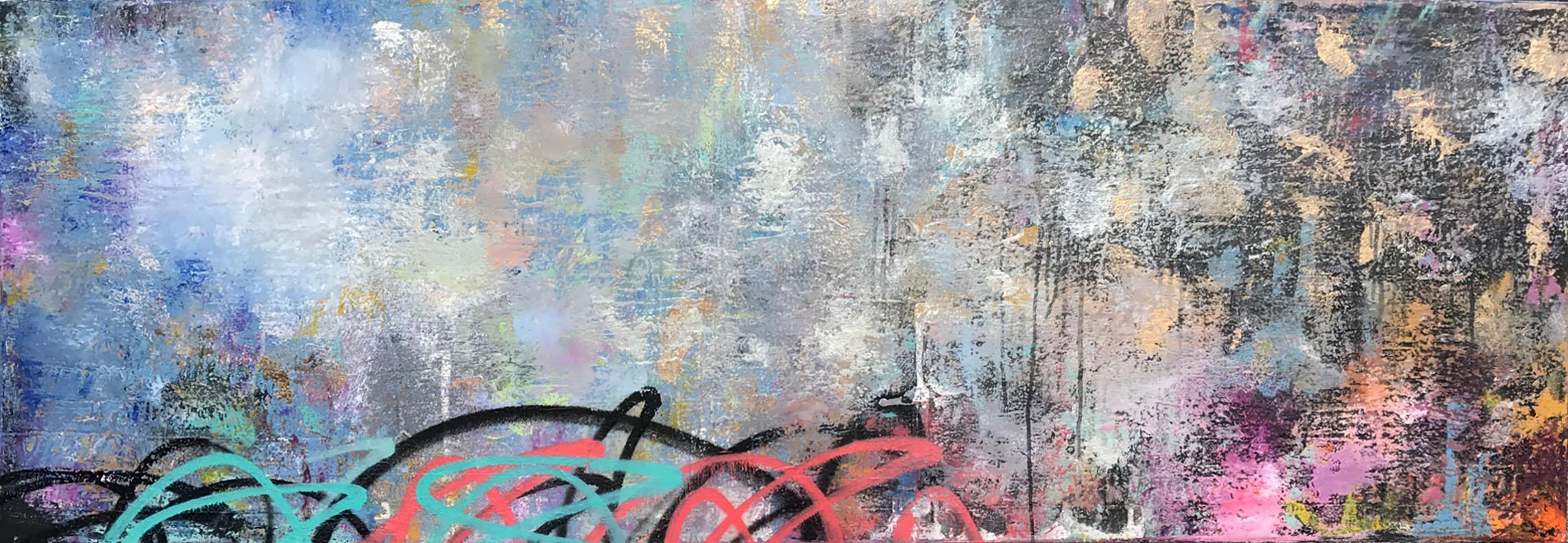 Tragedy & Triumph, 2017, Acrylic, Oil, Spray Paint on Canvas, Signed on Verso