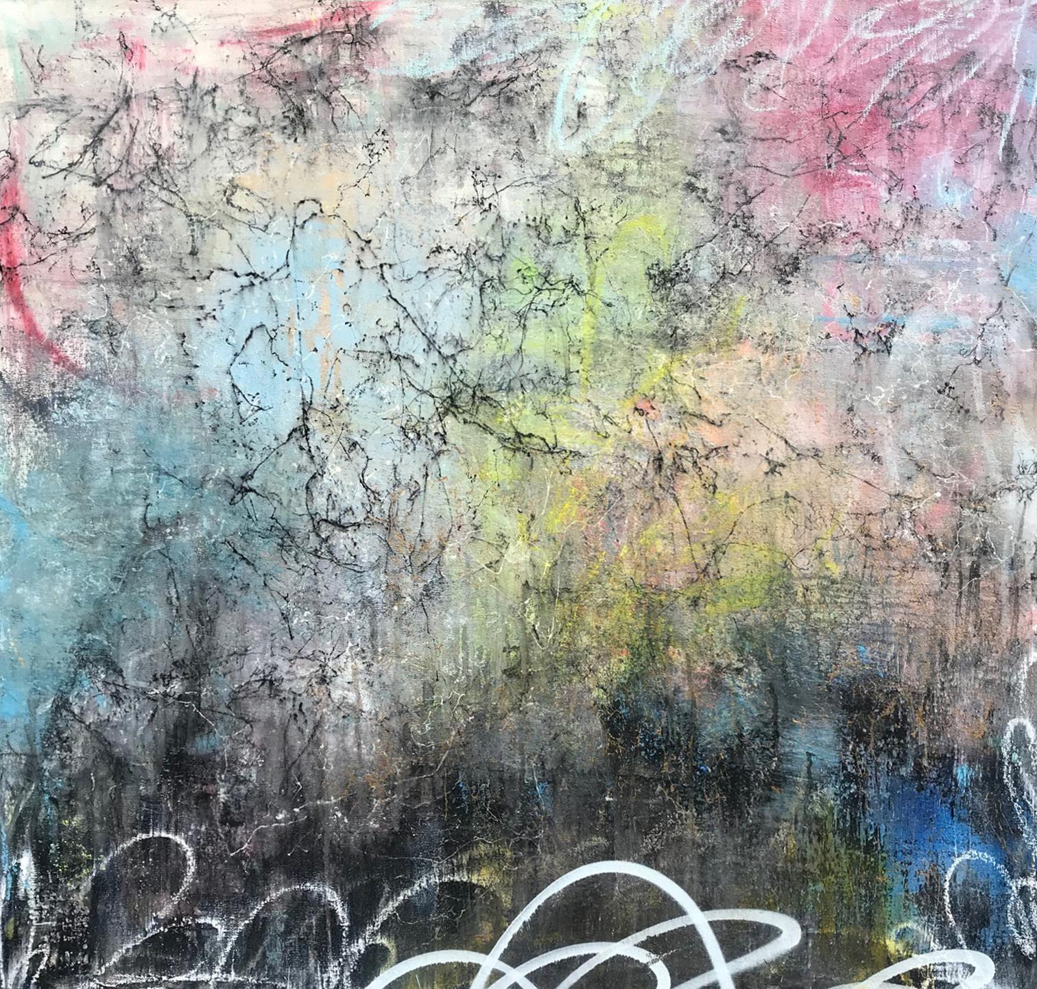 Unruly, 2018, Acrylic, Oil, Spray Paint on Canvas, Signed on Verso