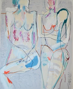 We Digress, Abstract Figurative Painting, Mixed Media on Canvas, Signed