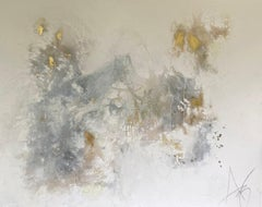Make Love Known, Abstract Painting, Mixed Media, Liquid Golds on Canvas, Signed