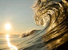 The Lion Wave, Seascape Fine Art Photography, Framed in Plexiglass, Signed