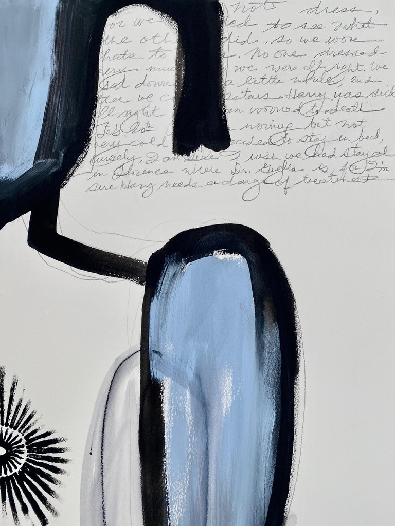 Devils Ballroom, 2020, Abstract Figurative, Mixed Media on Paper, Signed  For Sale 1