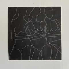 When We Work Together, Abstract Figurative, Acrylic & Pencil on Paper, Signed