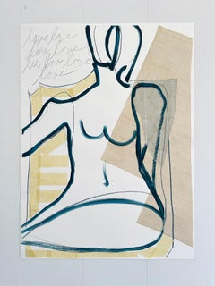 Grace II, 2021, Abstract Figurative, Mixed Media on Paper, Signed