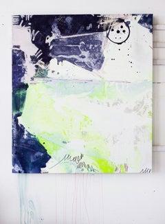 Gamma Glitter I, Acrylic, Oil, Graphite, Spray Paint on Canvas, Signed