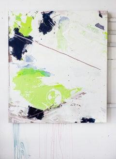 Gamma Glitter II, Acrylic, Oil, Graphite, Spray Paint on Canvas, Signed