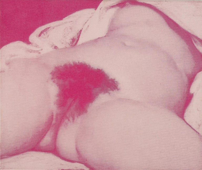 Susi Pop Nude Painting - L'origine (after Gustave Courbet) dispersion and silkscreen on canvas, 2005
