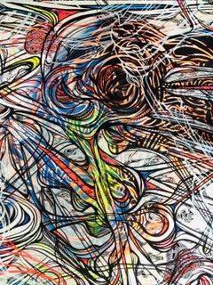 untitled,2012 mixed media on paper, abstract art, street art, urban art