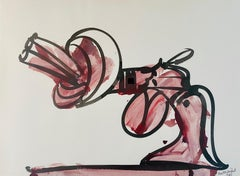 untitled, Knotted-Gun 1985, Non-Violence, gouache on paper