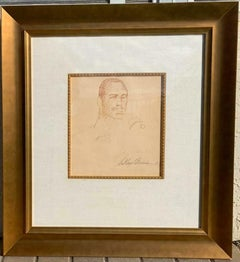 LeRoy Neiman Frasier Original Pencil Drawing Double Signed One of a Kind Framed