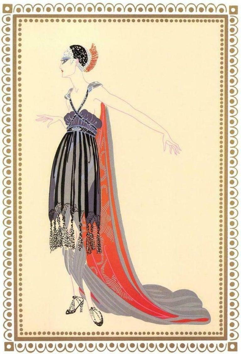 """Erte, """"Scheherazade Vamps Seductress"""" 1918 Gouache - Art by Erté"""