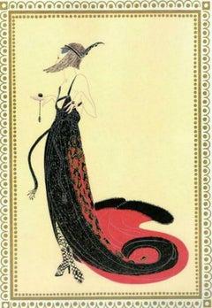 """Erte, """"Scheherazade Black Magic"""" 1918 Gouache on paper"""