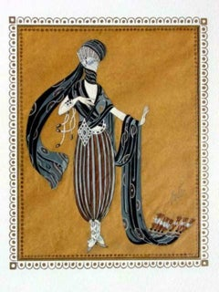 "Erte, Scheherazade ""Calyph's Concubine"" 1924 Gouache on paper"