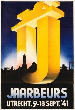 """""""Jaarbeurs Utrecht 1941"""" Original Vintage Poster"""