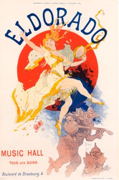 """Eldorado (Courrier Francais Edition)"" Original Antique Cabaret Poster 1890s"
