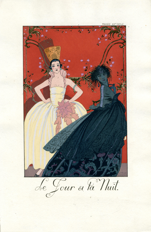"""""""Le Jour et la Nuit (from Falbalas et Fanfreluches)"""" Original Pochoir Plate"""