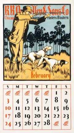"""RR Donnelley & Sons Co. - February"" Original Vintage Calendar Page"