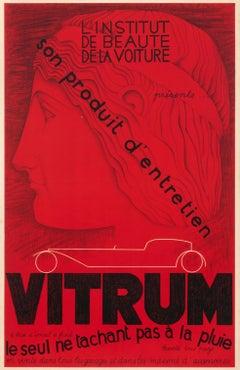 """Vitrum"" Original Vintage Automobile Product Poster"
