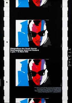 """Jean-Luc Godard - Filmpodium"" Original Vintage Film Festival Poster"