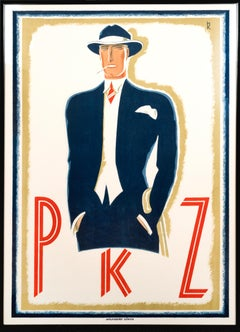"""PKZ"" Original Vintage Men's Fashion Poster"