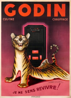 """Godin - Je me sens revivre!"" Original Vintage Appliances Poster"