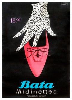 """Bata Midinettes"" Original Vintage Sexy Shoe Poster"