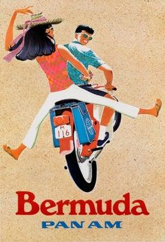 """Bermuda - Pan Am"" Original Vintage Travel Poster"