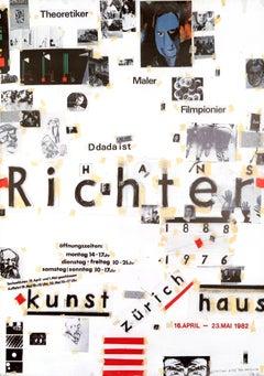 """""""Hans Richter - Kunsthaus Zurich"""" Original Vintage Art Exhibition Poster"""