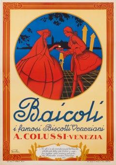 """Baicoli"" Original Vintage Italian Food Poster"